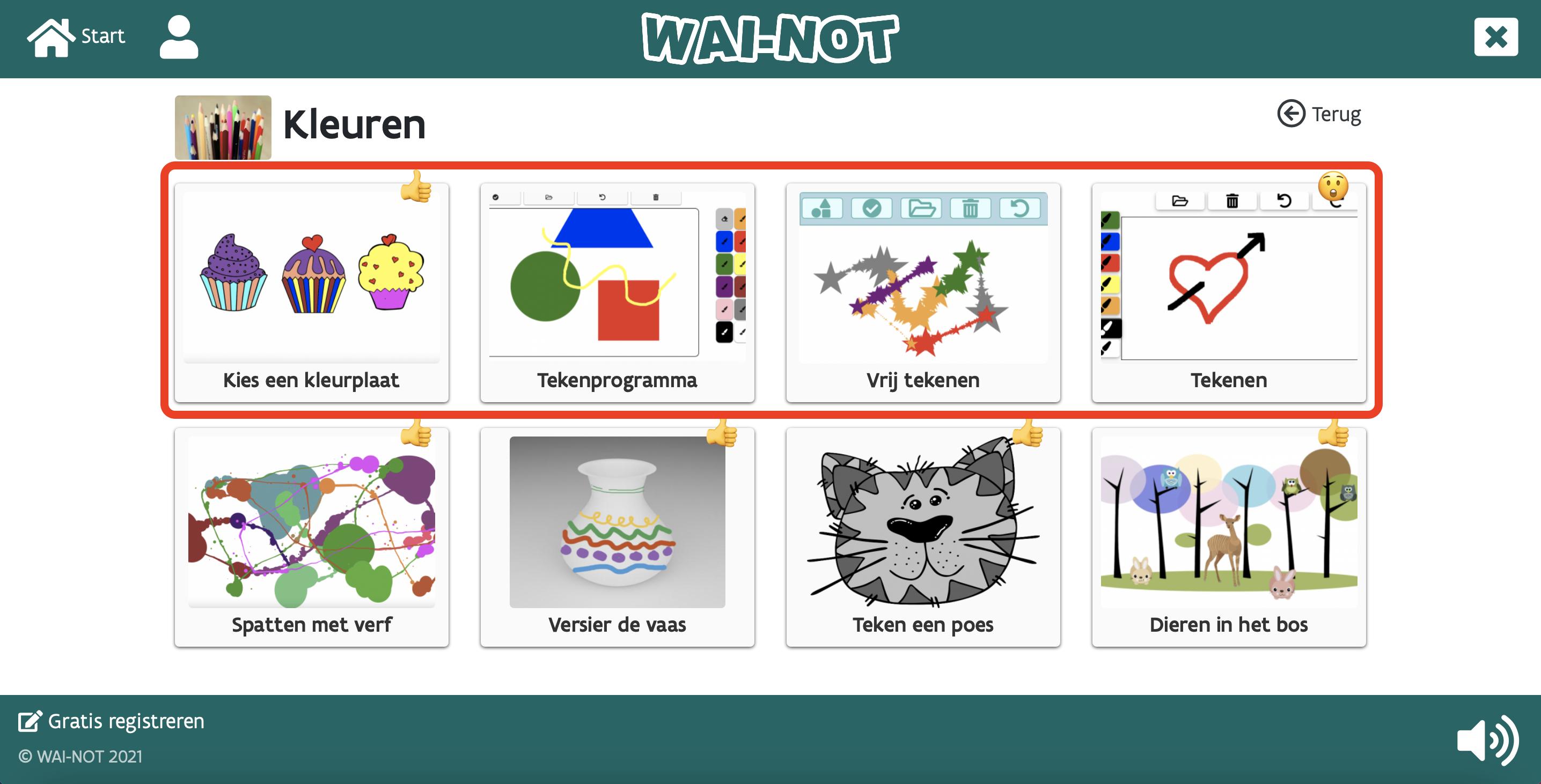 screenshot kleuren in WN
